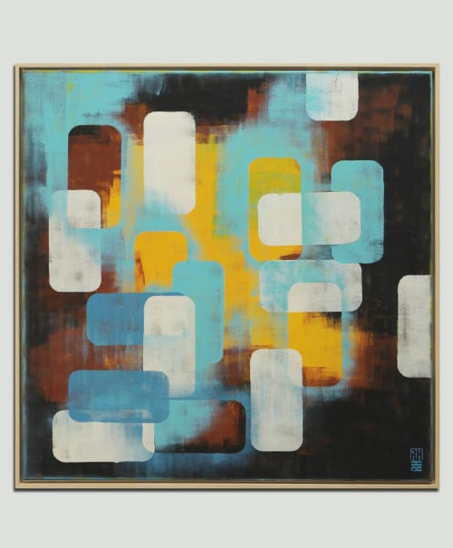 Paintings by Ronald Hunter seen at Roxier Art Gallery, Rotterdam - Layer Player - Incl Frame