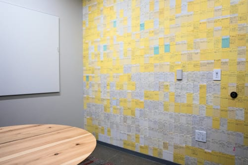 """Wall Treatments by ANTLRE - Hannah Sitzer seen at Google RWC SEA6, Redwood City - """"overdue"""""""