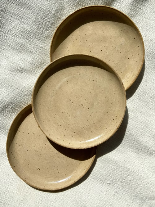 Ceramic Plates by Eyre Ceramics seen at Seattle, Seattle - Apricot Plate