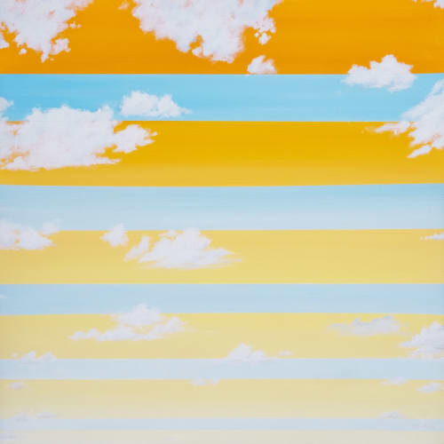 Paintings by Nichole McDaniel seen at Artspace Warehouse, Los Angeles - Summer Vibes 1 & 2