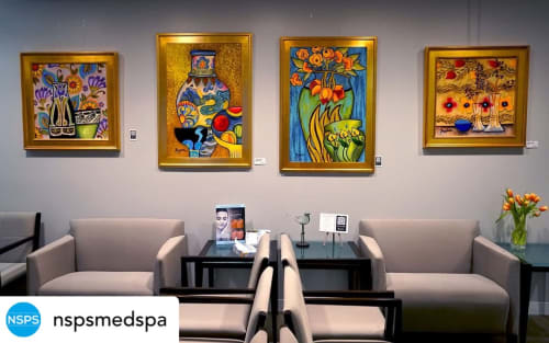 Paintings by BoughnerArt seen at Northwestern Medicine Plastic and Reconstructive Surgery, Chicago - Image810, Image863, Image745, Image 444
