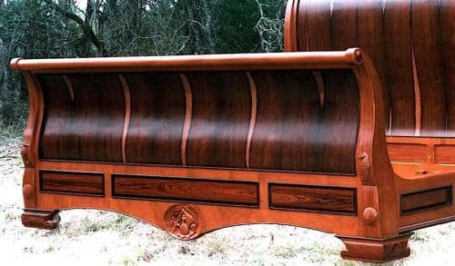 Beds & Accessories by Louis Fry Furniture Maker seen at Cape Cod Bay - Sleigh Bed In Brazilian Rosewood And Mahogany