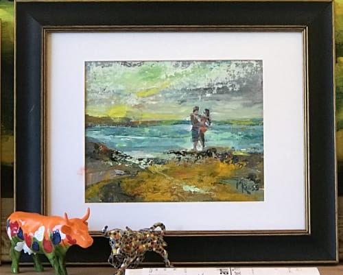 Paintings by Mark Ross, Next Thing Art seen at Private Residence - In Love