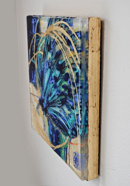 Wall Hangings by Art of Lisa Sofia seen at Private Residence, Seaside - Gold Wind