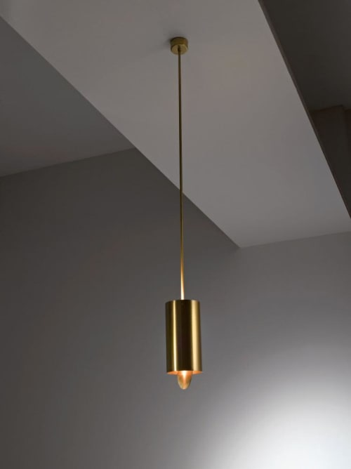 Pendants by Laurameroni Design Collection seen at Private Residence, London - Tubo Sospensione MF 40 Chandelier