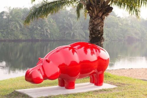 Art Curation by Ninon Art seen at Ghana - Hippo Red