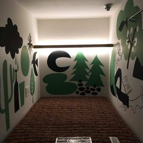 Murals by Yusuke Hanai seen at The Millennials Shibuya, Shibuya-ku - Indoor Mural