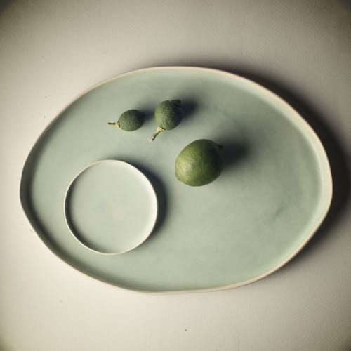 Ceramic Plates by Adarbakar seen at Private Residence - Green platter