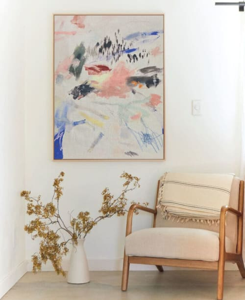 Paintings by maja dlugolecki seen at Creator's Studio, Los Angeles - 'the way you make me feel alive' - linen print