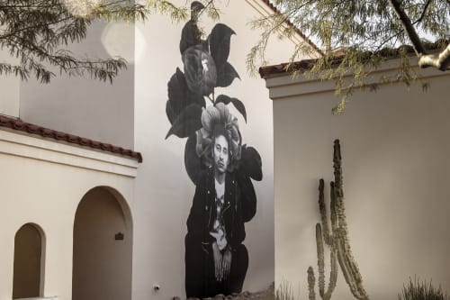 Murals by Cheyenne Randall aka INDIANGIVER seen at Heard Museum, Phoenix - John Trudell