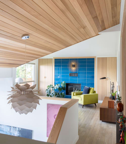Interior Design by Saito and Gasparick Remodel seen at Private Residence, West Kelowna - West Kelowna living room transformation featuring the Nihon Louver
