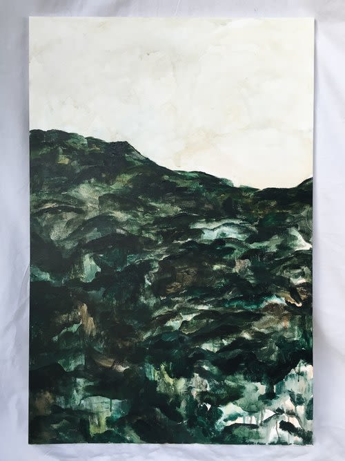 "Paintings by Emily Tingey seen at Private Residence, Los Angeles - ""Huron"""