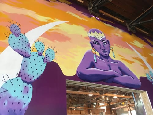 "Murals by Sapira Design seen at The Infinite Monkey Theorem, Austin - ""Mother Nature"" mural"