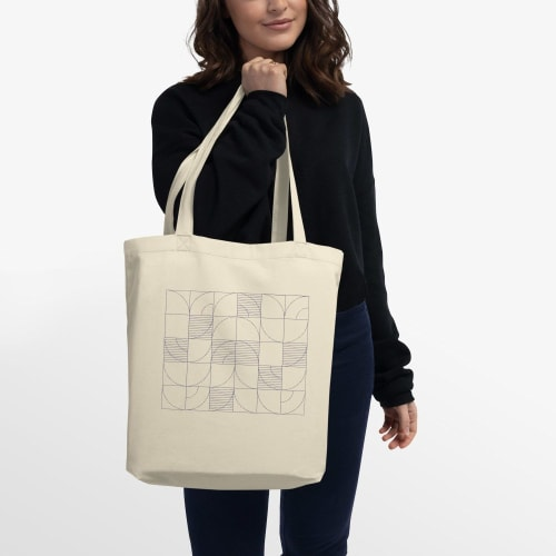 Apparel & Accessories by Michael Grace & Co seen at Seattle, WA, Seattle - Geometric Harvest Eco Tote