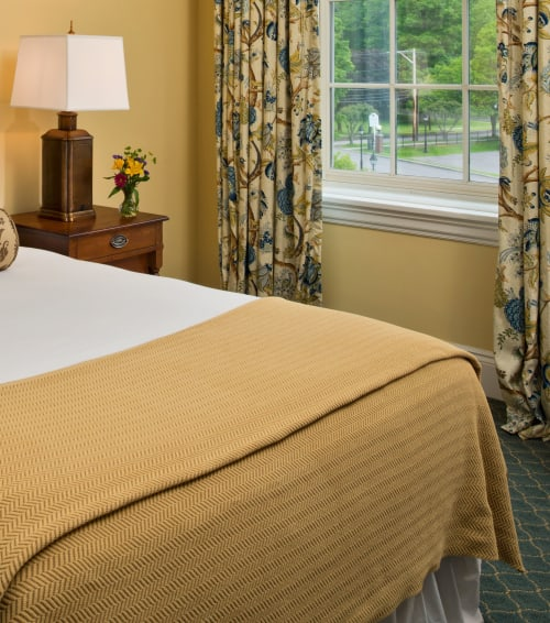 Linens & Bedding by Studio Twist seen at The Otesaga Resort Hotel, Cooperstown - Knitted Throw in Polypropylene & Polyplush - Twist Herringbone