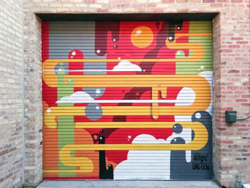 Murals by Anthony Lewellen seen at Ada Street, Chicago - Ada Street