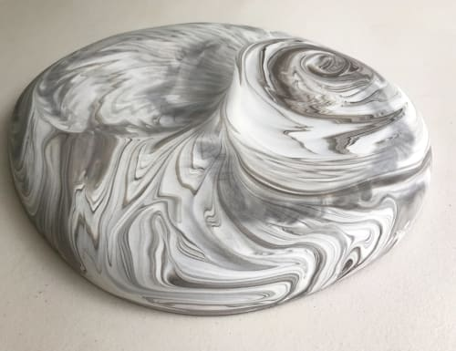 Tableware by Beste Ogan Design seen at Private Residence, Istanbul - ADA 'Pebble Series' large marbled double-sided platter.
