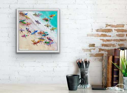 Paintings by Elizabeth Langreiter Art seen at Creator's Studio, Sydney - Lets Go surfing Today