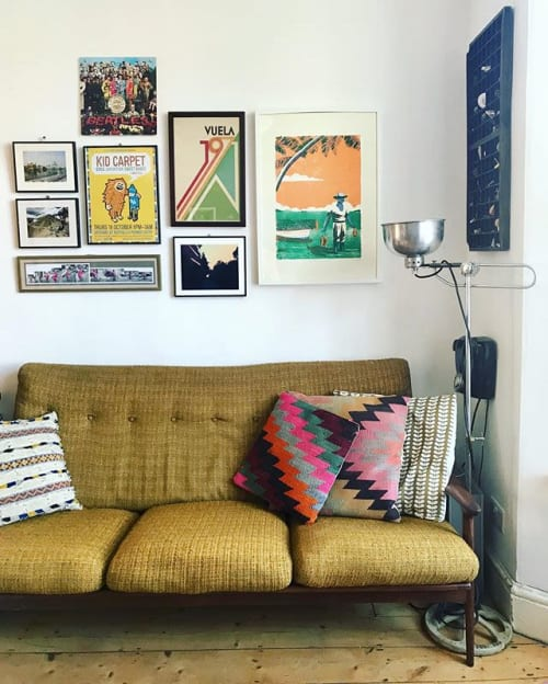 Macrame Wall Hanging by Haskett Prints seen at Private Residence, Bristol - Second Catch screenprint in Bristol