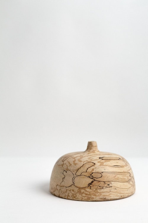 Vases & Vessels by Whirl & Whittle seen at Private Residence, Ottawa - Ruhi vase in spalted beech