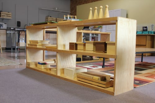 Furniture by Clay Street Woodworks seen at Compass Montessori School, Wheat Ridge - Shelves