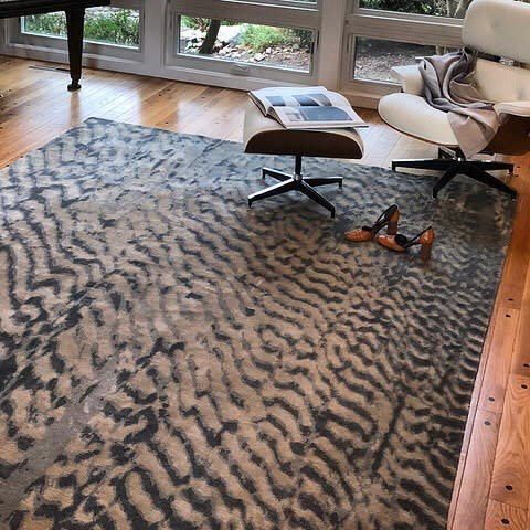 Rugs by Emma Gardner Design, LLC seen at Private Residence, Petaluma - Dunes