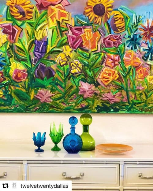 Garden Party   Paintings by Debbie Daise Art    @Debbiedaiseart   Twelve Twenty Dallas in Dallas