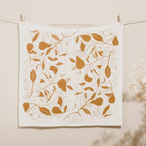 Tableware by Elana Gabrielle seen at Creator's Studio, Portland - Pears Tea Towel