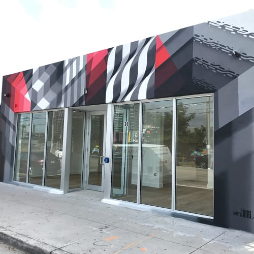 Street Murals by David June Louf (Mr. June) seen at Wynwood Art District, Miami - Wyndwood Mural