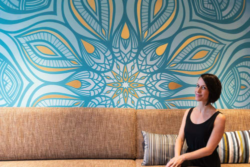 Murals by Urbanheart seen at Pure Yoga Grand Century Place - Lounge Mandala Mural
