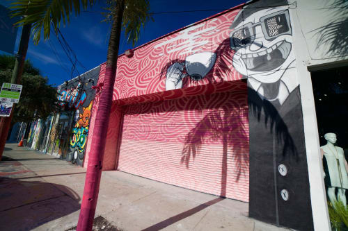 Street Murals by Jorge-Miguel Rodriguez seen at JOE & THE JUICE, Miami - Joe & The Juice