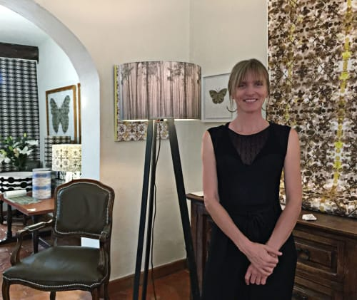 Lighting by Ri Anderson seen at Private Residence, San Miguel de Allende - Foggy Forest Lampshade