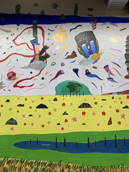 Murals by Lu Jyun Han seen at Taipei, Taipei - Daydream explorer