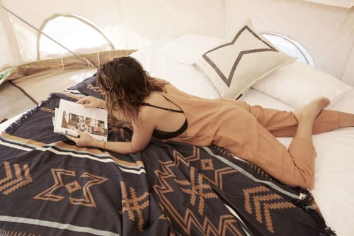 Linens & Bedding by Pony Rider seen at Flash Camp, Byron Bay - Seeker Throw