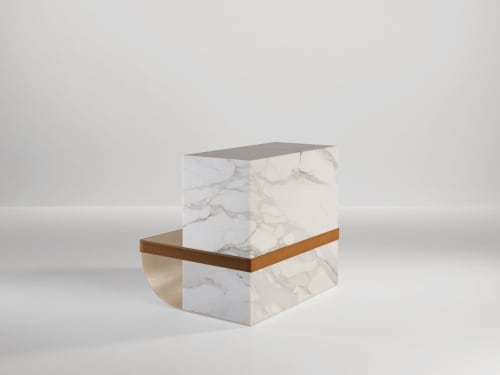 Tables by SECOLO seen at Creator's Studio, Milan - Ambrogio Side Table