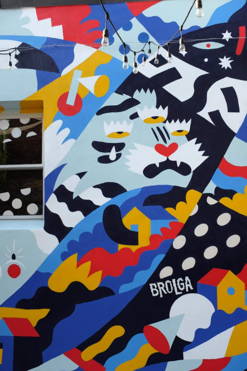 Murals by Brolga seen at Kills Boro Brewing Company, Staten Island - Kills Boro Mural