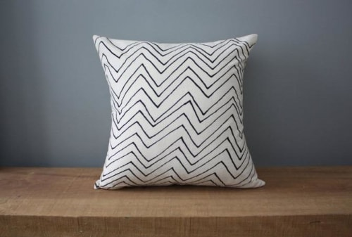 """Pillows by Little Korboose seen at Private Residence, Cleveland - """"Chevron"""" Pillow"""