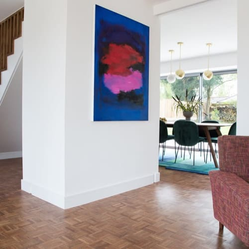 Paintings by Wendy Hyde seen at Private Residence, Claverdon - Love me Tender sold
