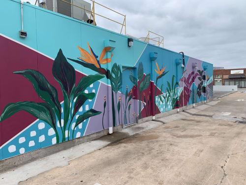 Street Murals by Brooke Rowlands seen at Edmond, Edmond - Tropical Oasis