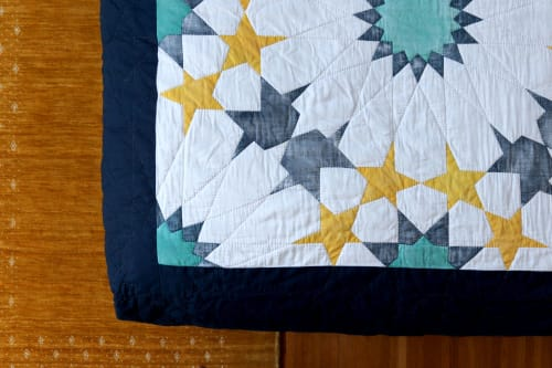 Linens & Bedding by Construction Lines seen at Seattle, WA, Seattle - Custom Queen-size Quilt