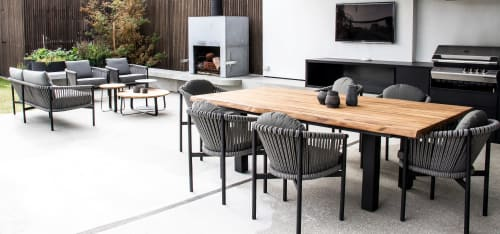 Chairs by SATARA seen at Private Residence, Hampton - Catalan Outdor Furniture Range