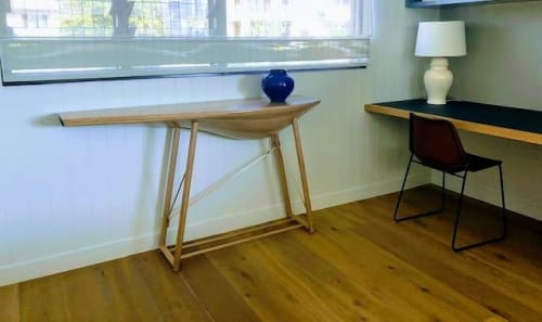 Tables by Nick Randall seen at Private Residence, Brisbane - Billow table