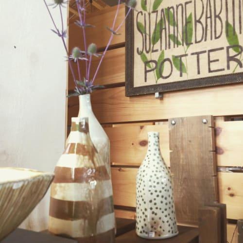 Vases & Vessels by Suzanne Babineau seen at Marché des Fermiers de Bouctouche Farmers' Market, Bouctouche - Ceramic Vases