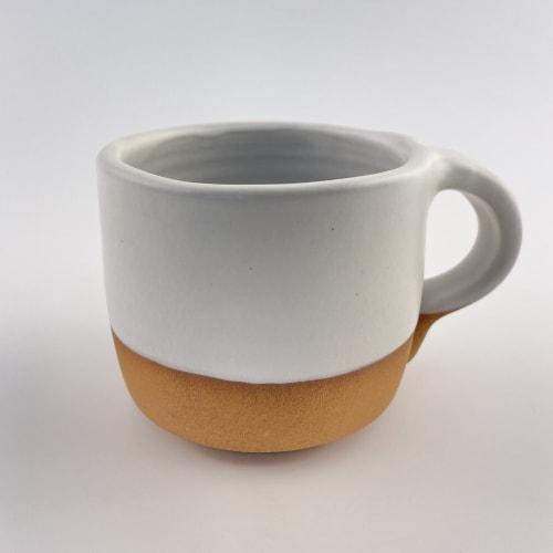 White Modern Coffee Mug   Cups by Tina Fossella Pottery