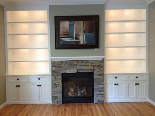 Furniture by Bear Mountain Woodworking seen at Private Residence, Ossining - Custom Built In's