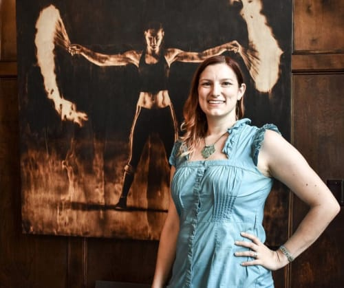 Paintings by Hollie Berry seen at Private Residence, Chattanooga - Torch painting