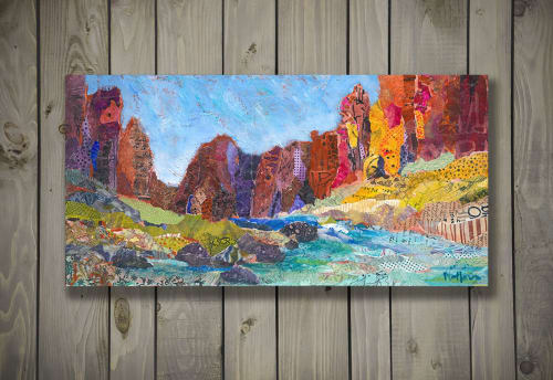 Paintings by Shelli Walters Studio seen at Private Residence, Salt Lake City - Smith Rock, Oregon