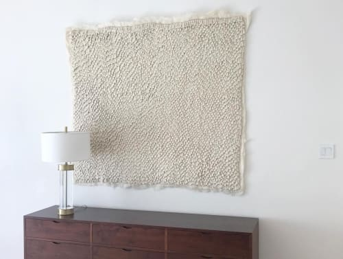Wall Hangings by Ernie and Irene seen at Private Residence, Los Altos Hills - Custom Wool Artwork