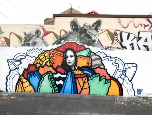 Street Murals by Alloyius Mcilwaine Art seen at 13 Rue Pierre Semard, Vitry-sur-Seine - Tatiana (Muse)