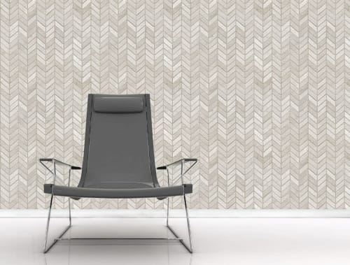 Wallpaper by Space Innovation Ltd seen at Private Residence, London - CHEVRON Wallpaper